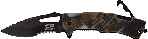MTech USA XTREME Taschenmesser Digital Camo G10 Griff mit versteckten Rettungshaken, MX-A846DG