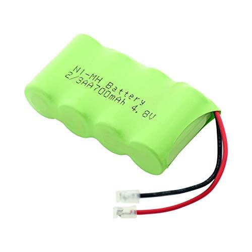 hsvgjsfa Batería De 4.8v 700mah 2/3AA Ni Mh, Paquete De Batería De Conector Universal Recargable para Linterna Banco De Energía De Bricolaje