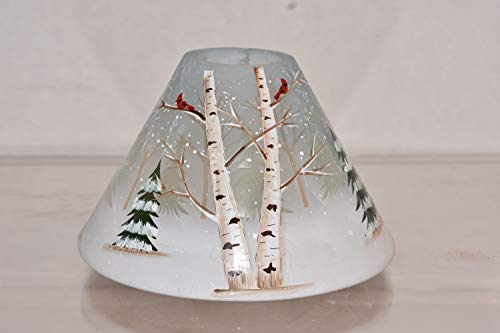 New Yankee Candle Holiday Pine & Birch with Cardinals Jar Shade Candle Topper