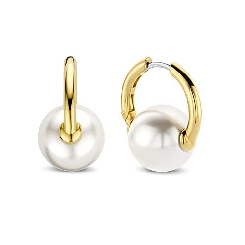 Ti Sento Pendientes de aro con perlas blancas 7850PW