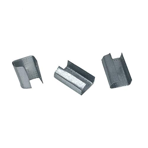 1個入りケース 200個/パック オープン鋸歯状シール ポリエステル(PET)ストラップ スナップオン グリッパー ストラップクリップ 幅1/2インチ (13mm) 長