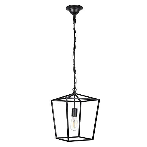 Lámpara de araña Vintage Lámpara de Techo Retro Luz de Techo 1 Jaula de Metal Ligero Lámpara Colgante Industrial para casa de Campo Cocina Isla Hall Vestíbulo Restaurante