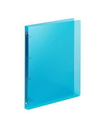 Favorit Raccoglitore Polipropilene Lumina 22X30 4 Anelli Tondi Diametro 15 mm, Blu