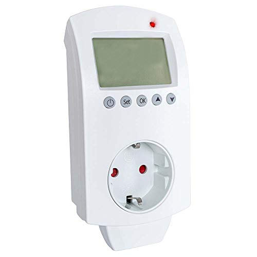 Heidenfeld Digitales Steckdosenthermostat WIFI HF-DT105 Thermoschalter Thermostat - 0-40° C - Smart Home App - Für Infrarotheizung - Universell einsetzbar (HF-DT105 WIFI)