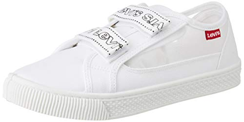 Levi's Malibu Velcro S, Zapatillas Mujer, Blanco (B White 50), 39 EU