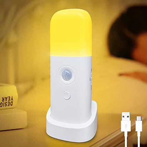 spier Sensor de movimiento de luz nocturna regulable con 5 niveles de brillo USB recargable para habitación de los niños dormitorio pasillo
