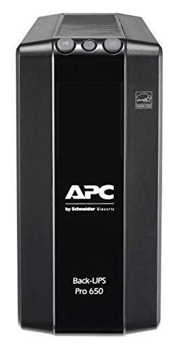 APC by Schneider Electric Back UPS PRO BR650MI Gruppo di Continuità UPS, 650VA, 6 Uscite IEC, Interfaccia LCD, Protezione Linea Dati da 1 GB