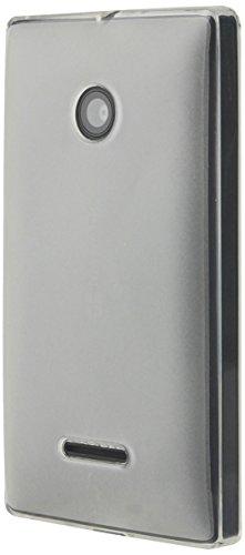 Hülleit Clip-On TPU Hülle Hülle Cover & Kristallklare Blasenfreie Bildschirmschutzfolie im Set für Microsoft Lumia 435 - Schwarz
