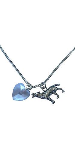 Halskette mit Wolf und Herz