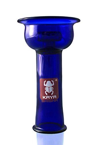 Kaya Shisha Disc 4tex Glaskopf Blau, Vortex Bowl aus hitzebeständigem Glas für Wasserpfeifen
