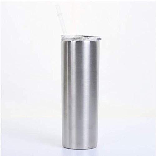 ASDF 20 Unzen Edelstahlbecher Mit Strohhalm Und Deckel, Doppelt Vakuumisolierte, Nicht Zerbrochene Tasse Kaffee Und Reisebecherbecher