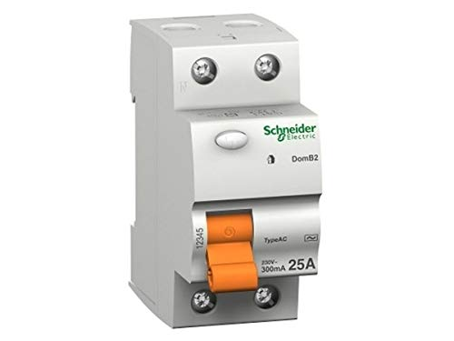 Schneider Electric 15244 Interruptor Diferencial Id Domae, 2P 25A, 30 Ma Ac