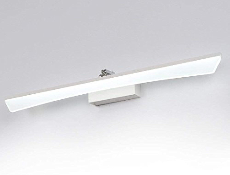 Badezimmerbeleuchtung LED-Spiegel Scheinwerfer, Dressing Tischlampe Badezimmer Toiletten Badleuchten Moderne einfache Wandleuchte Wasserdicht Anti-Fog Licht (Farbe   Wei-12w60cm)
