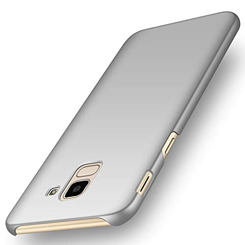 """deconext Funda Samsung J6(2018), Carcasa Ultra Slim Anti-Rasguño y Resistente Huellas Dactilares Protectora Caso de Duro Cover Case para Samsung Galaxy J6(2018) 5,6""""Plata Lisa"""