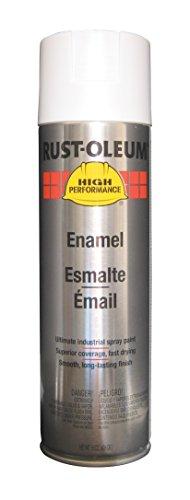 Rust-Oleum V2190838 High Performance V2100 System Rust Preventive Enamel Spray Paint, 20 fl. oz. container, 15 oz. fill,, Flat White, 6-Pack