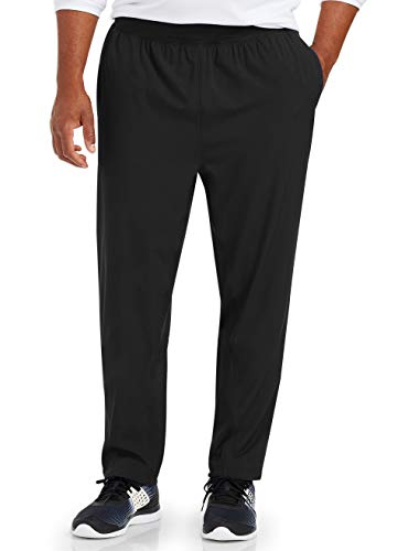 Amazon Essentials Men's & Tall Stretch Woven Training Pant fit by DXL, Black, 3XL