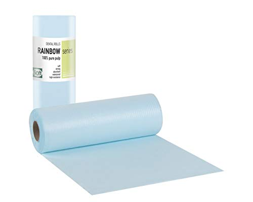 Tegcare Dental, Kosmetik, Tattoo, Patientenservietten Roll, wasserdicht, 29cm x 50m (1, Blau), 470 g