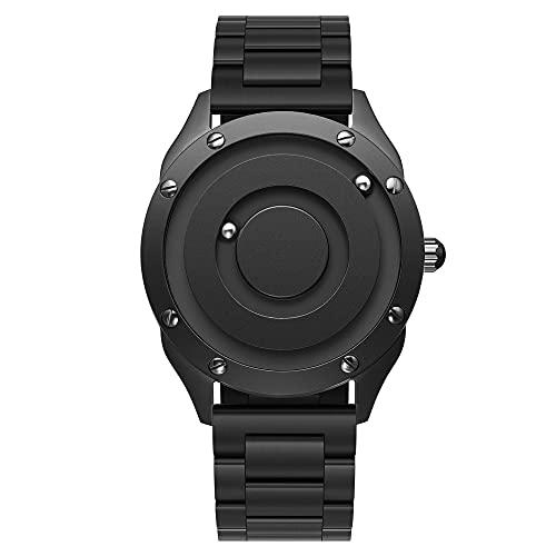 Herren Armbanduhr, EUTOUR Magnetische Armbanduhr Ausgefallene Minimalistische Unisex Uhren Schweizer Quarzuhr mit Edelstahl Armband