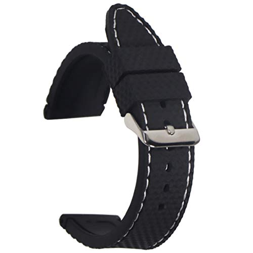 Correa de reloj de silicona Banda de 22 mm Accesorios de reloj CorreaPulsera de goma CinturónImpermeable