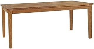 Modway EEI-2714-NAT Marina Premium Grade A Teak Wood Outdoor Patio Extendable Dining Table, Extandable, Natural