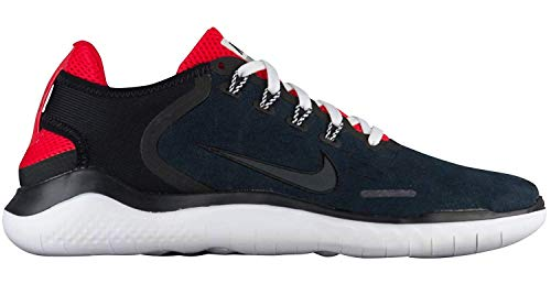Nike Free RN 2018 DNA Running Shoe, Black/Anthracite-Speed Red, 12