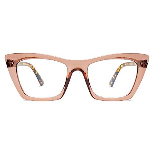 AMOMOMA Oversized Reading Glasses for Women,Trendy Cat eye...