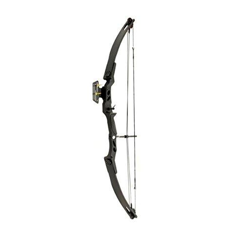 Hellbow Compoundbogen Verbindung 55 lbs und 207 FPS Visier, Schwarze Farbe, ideal für die Jagd