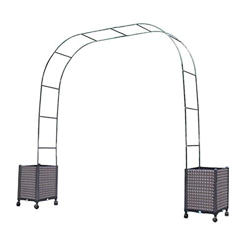 Arbors Rose Arch with Planters,Garden Pergola Trellis With Planter Free to Assemble for Various Climbing Plant Roses Vines Bridal Party Decoration Pergola