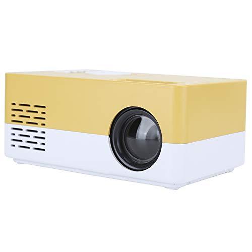 Mini proyector, proyector de Alta definición 1080P, proyector LED de Cine en casa con Interfaz HDMI/AV/USB, para/TV Box/PC/Laptops / PS4 / Xbox/USB Drives(Enchufe de la UE)