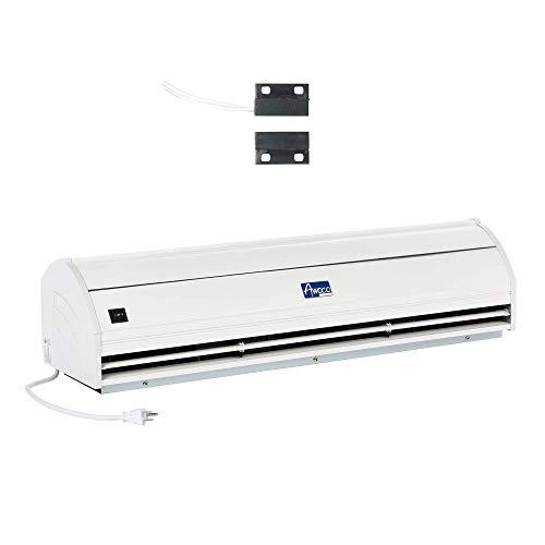 Awoco Elegant - Cortina de aire interior de 2 velocidades de 25,5m³/min / 900CFM con interruptor de puerta magnético de fácil instalación