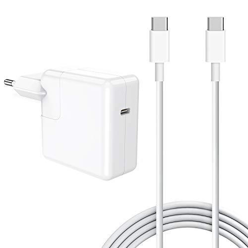 SIXNWELL Cargador Mac book USB C 30w Cargador Macbook Air ,30W Cargador Macbook USB C portatil movil compatible con Mac book 12 pulgadas y Mac Air 2018 (29W) tarde, iPhone 11 y iPad Pro