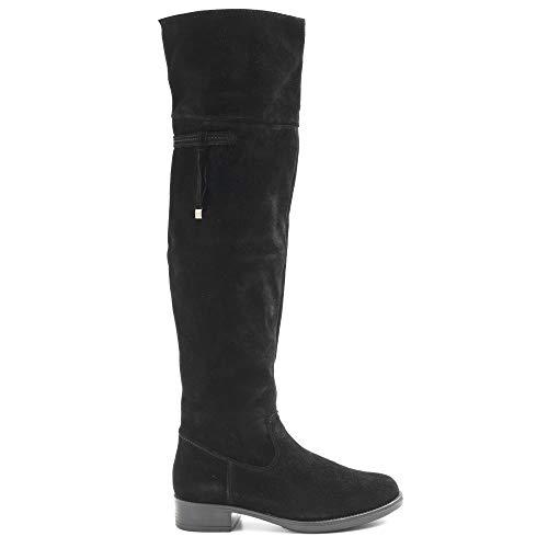 Tamaris Overknee-laarzen van zwart suède - 1-1-25537-23 001 - maat