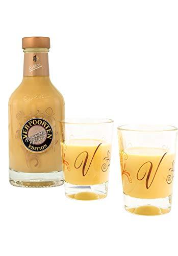 Likör Set Verpoorten Edition Amaretto-Apricot, inkl. 2 Cocktail Schalen