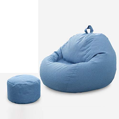 XXCC Bean Bag,lazy Sofa Bean Bag,cute Lounge Chair On Tatami Floor Single Bedroom Balcony,fine Velvet Linen Material,suitable For Bedroom,living Room,balcony,Bean Bag