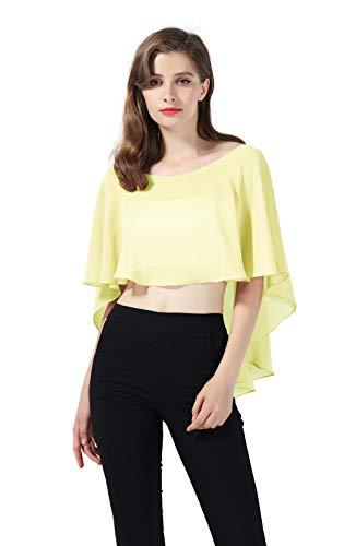Pashmina amarilla para mujer estilo chal