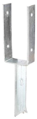 GAH-Alberts 216771 U-Pfostenträger mit Betonanker aus T-Eisen, feuerverzinkt, lichte Breite: 91 mm