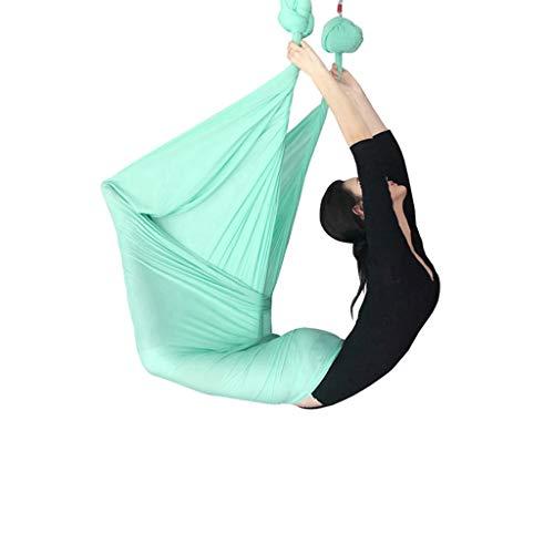 Yunyisujiao Yoga Hangmat, yoga schommel, yoga, fitnessapparaat voor fitness Aerea yoga hangmat zwaartekracht yoga schommel lengte 5 m breedte 2,8 m