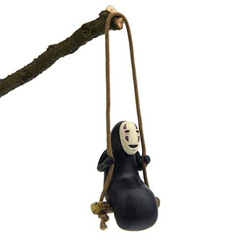 DTKJ Temperamentvoll entfernt kein Gesicht Mann Figur anhänger Halskette Miyazaki Hayao kreative Kawaii DIY schaukel Anime Spielzeug Harz prozess Dekoration