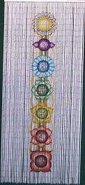 ABeadedCurtain 125 String Chakra Beaded Curtain 38% More Strands Handmade with 4000 Beads (+Hanging Hardware)