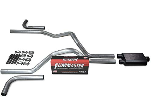 Truck Exhaust Kits - Shop Line dual exhaust system 2.5 AL pipe Flowmaster Super 44 Side Exit