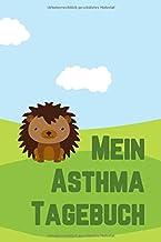 Asthma Tagebuch Lungenfunktion: Für je 2 Wochen detaillierte Atem-Messungen pro Doppelseite, Igel Umschlag für Kinder, 15,...
