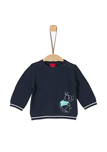 s.Oliver Unisex - Baby Strickpulli mit Stickerei dark blue 50/56