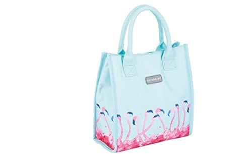 Kitchen Craft Kühltasche mit Flamingo-Druck, isoliert, klein, 4 l, Blau