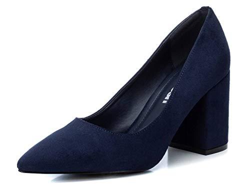 REFRESH - Zapato con Tacón para Mujer - Cierre con Cremallera - Color Navy - Talla 39
