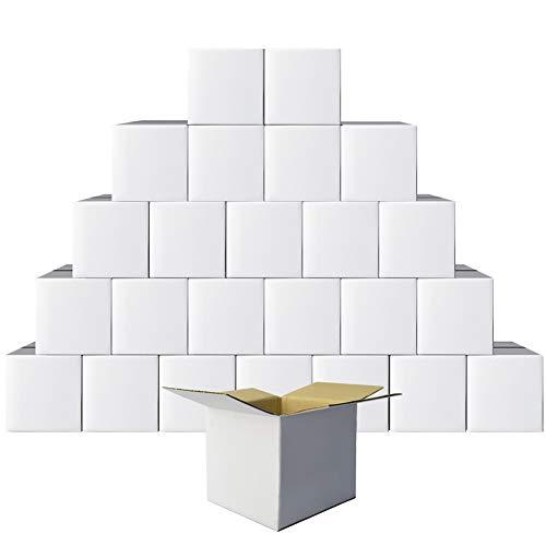 PETAFLOP Scatole di Cartone, 15x15x15 cm, Scatole Trasloco in Cartone Ondulato, Confezione da 25