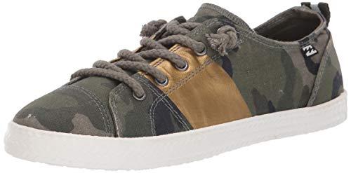 Billabong Women's Marina Canvas Shoes Sneaker, Camo, 9 M US