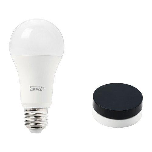 IKEA TRADFRI Dimmer-Set für Beleuchtung in schwarz; warmes Tageslicht; A+
