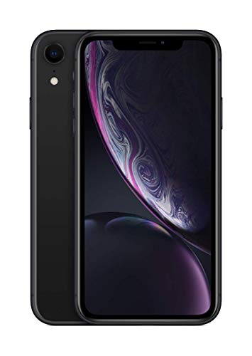 Apple iPhone XR (128GB) - Negro (incluye Earpods, adaptador de corriente)