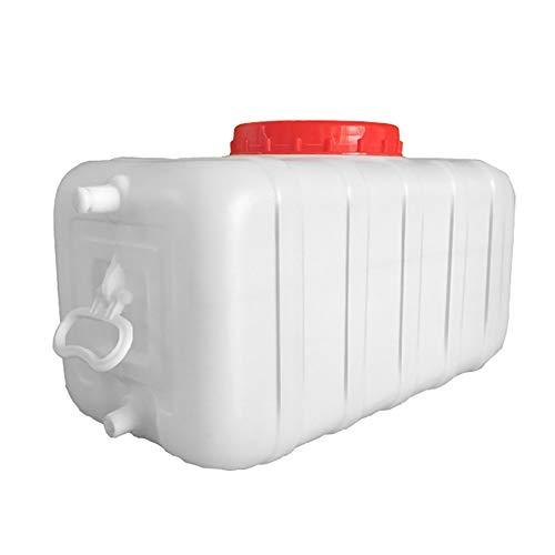 Stasy Contenedor De Agua Grande De Plástico Blanco con Asa para Acampar, Recipientes Rectangulares De Almacenamiento De Agua De Emergencia De Grado Alimenticio(Size:25 Liters)