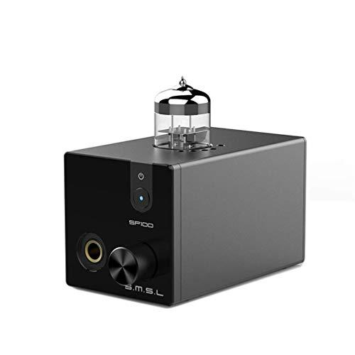 S.M.S.L. SP100 Amplificatore per cuffie valvolare 6N3 Vacuum Tube Buffer AMP HiFi Preamplificatore desktop (Nero)